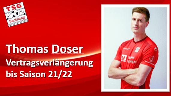Thomas Doser bleibt ein weiteres Jahr