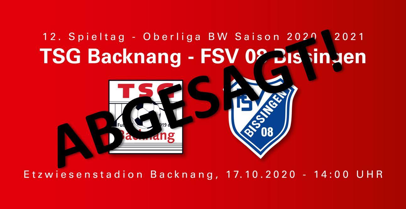 Oberligaspiel gegen Bissingen abgesetzt!